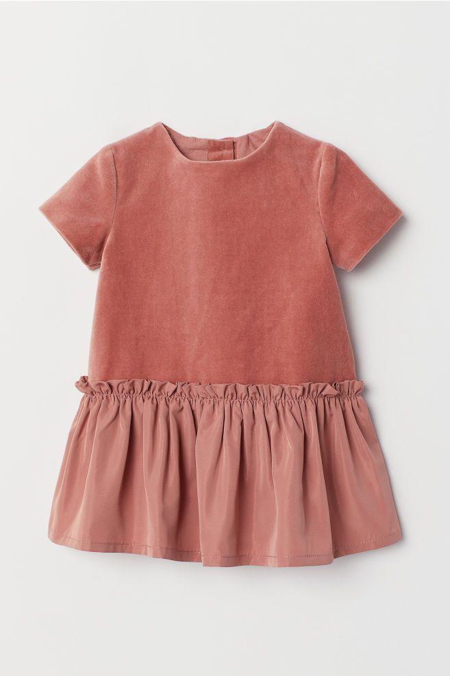 5a2fcac2ca6d Velvet Dress - Dark dusty rose - Kids