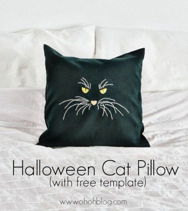 Don't let Halloween slip by without totally re-decorating your house for the occasion. These cat pillows would be perfect on the couch or the children's bed. You can check out the full …