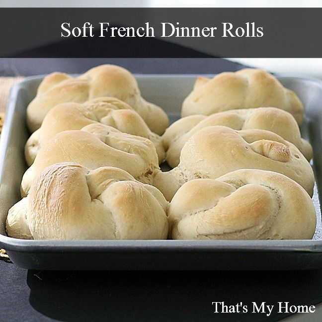 Soft French dinner rolls are quick and easy to make. Can be made in about 1 hour and 30 minutes.