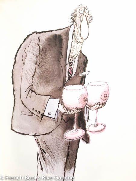 Ronald Searle, Parler en Vin 1984 그만의 힘있고 독창적인 필체에, 영국인 특유의 신랄하고 낯선 해학의 정도를 가늠하는 재미가 있습니다.  이번 책에는 와인애호가들 사이에 도는 그들만의 전문적이고 정교한 표현들을 캐리커쳐로 그려 모았는데요,  언제나 처럼 그의 표현속에 묻어나는 비꼬는 듯한 풍자가 재미있습니다.