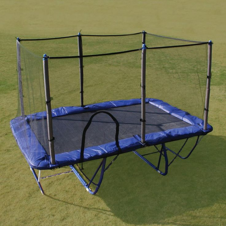 Have to have it. Variflex Rectangle 8 x 12-Foot Folding Trampoline with Enclosure - $ @hayneedle