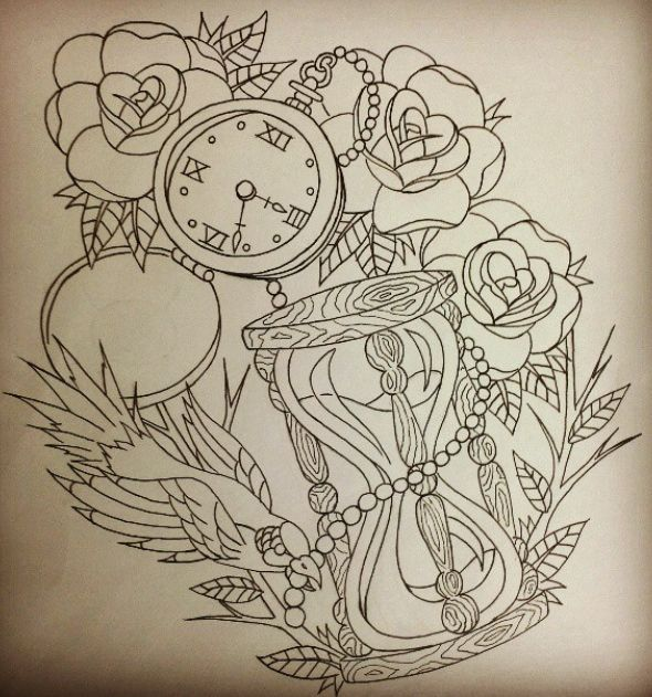 HOUR GLASS AND COMPASS TATTOO IDEAS FOR JACKSONVILLE ...