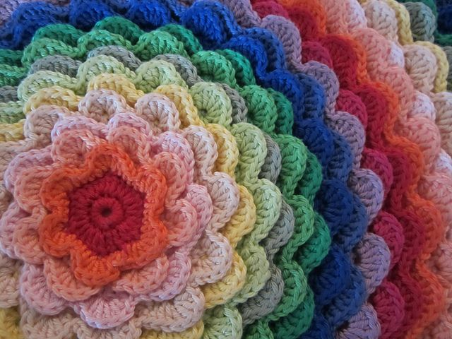 Crochet Flower Cushion Pattern Free : Ravelry: Blooming Flower Cushion pattern by Lucy of ...