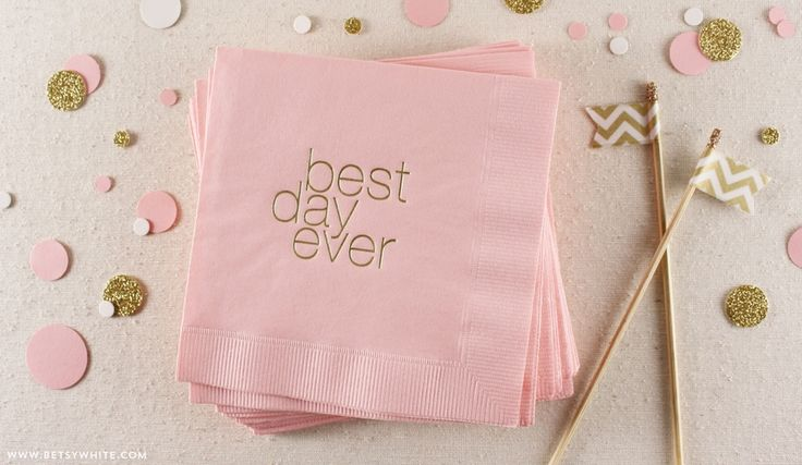 best day ever - pink and gold