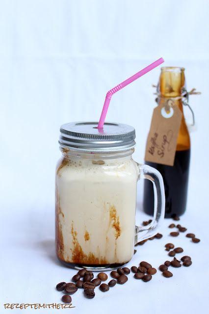 Rezepte mit Herz   ♥: Eiskaffee ♡ mit selbstgemachtem Kaffee Sirup