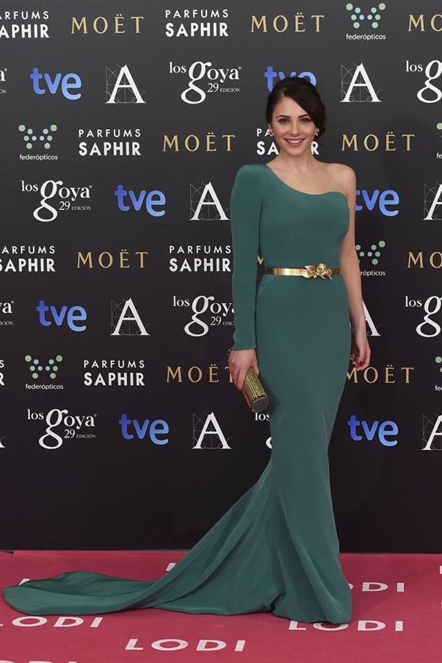 Andrea Duro in Isabel Basaldua at the 2015 Goya Awards #fashion