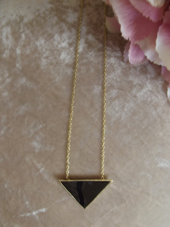 House of Harlow inspired Black Triangle Necklace   £4.50  Visit Bea Boutique shop etsy.com/shop/beaboutiqueuk