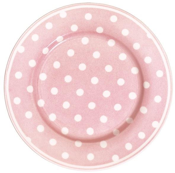 GreenGate Stoneware Plate Naomi Pink D 20,5 cm | Spring/Summer 2013 | Originated-Webshop
