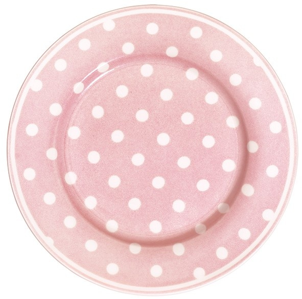 GreenGate Stoneware Plate Naomi Pink D 20,5 cm   Spring/Summer 2013   Originated-Webshop