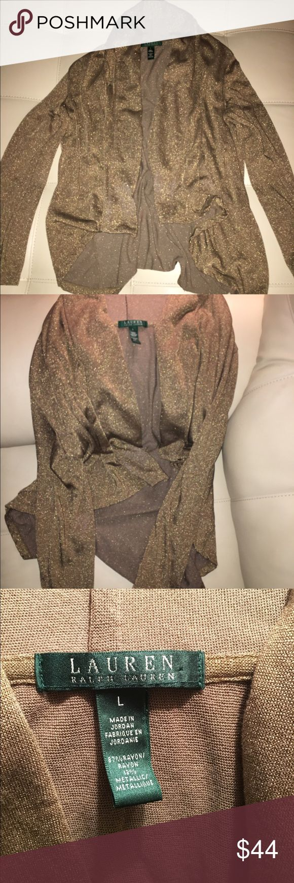 Ralph Lauren Gold Cardigan No stains or signs of wearing Ralph Lauren Sweaters Cardigans