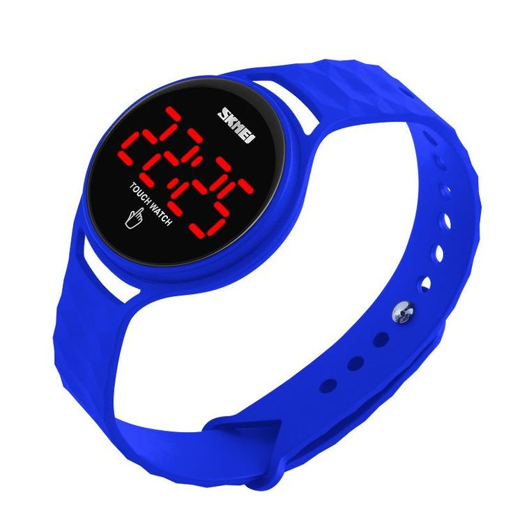 SKMEI 1230 Trendy Men Women Digital Watch Touch Screen LED Display PU Strap Sport Watch