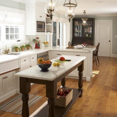 Long Narrow Kitchen With Island Design, Pictures, Remodel, Decor and
