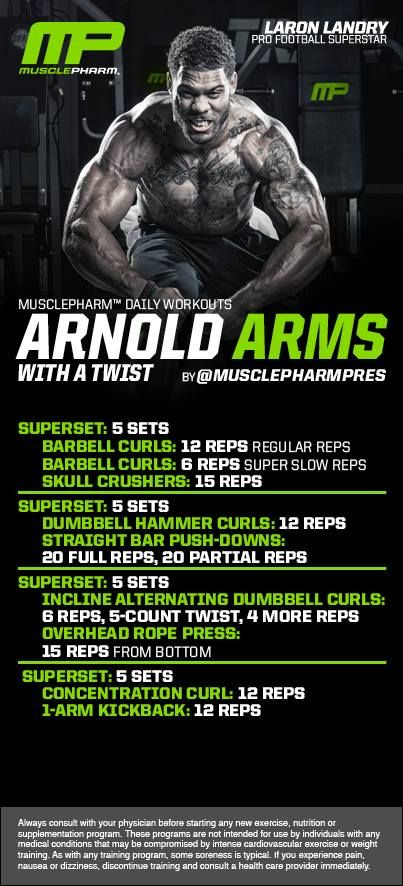 173 best muscle pharm images on pinterest workout routines arnold arms with a twist malvernweather Choice Image