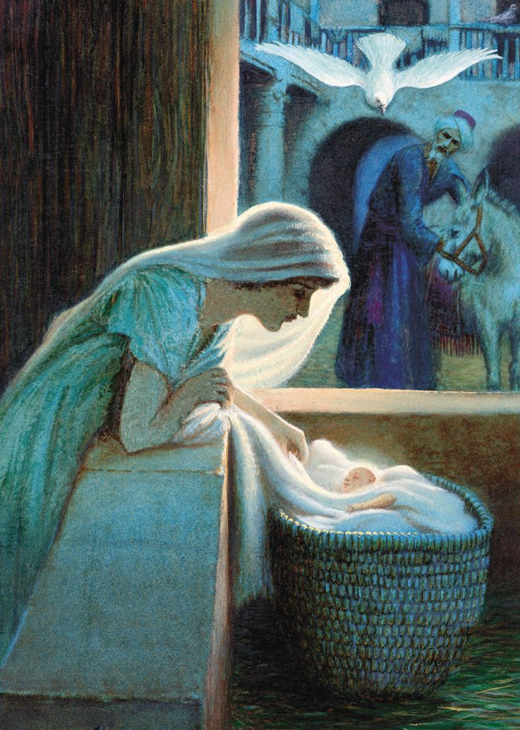 (via Te Quiero Rosa) The Holy Family (including the Holy Spirit) at the Nativity