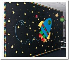 classroom decoration theme animals space - Google Search