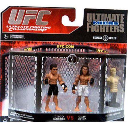 Diego Sanchez vs. Clay Guida Mini Figure 2-Pack UFC 9, Multicolor