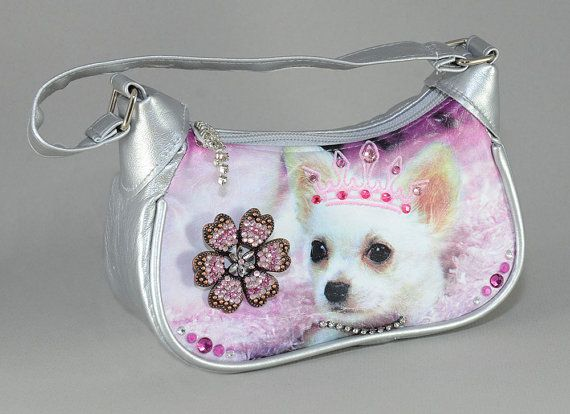 Pretty Princess Puppy handbag  upcycled with by creativedogstwo, $40.00