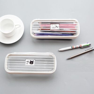 Simple Cute Pencil Cases Transparent ABS Plastic Big Pencil Case For Student-in Pencil Cases from Office & School Supplies on Aliexpress.com | Alibaba Group
