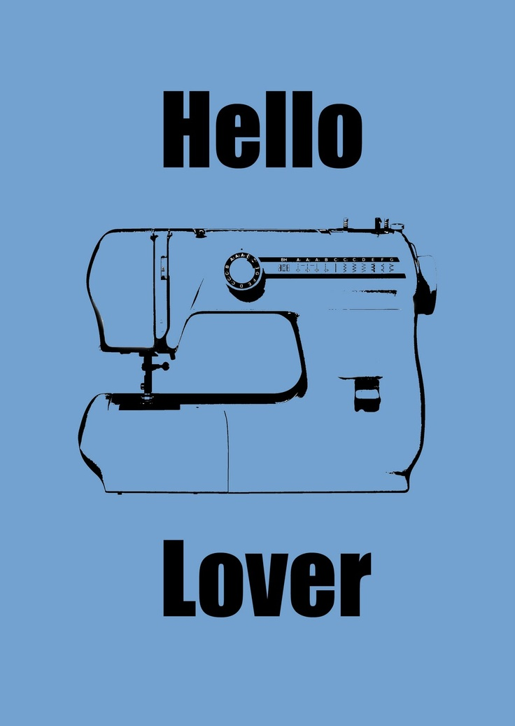 Free printable poster.  Wanting to learn how to sew....one day, I will feel this way.