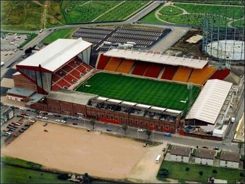 Field of dreams Pittodrie from above