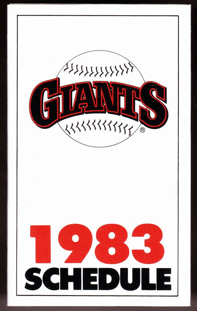 1983 SAN FRANCISCO GIANTS TICKETRON BASEBALL POCKET SCHEDULE EXEX+ CONDITION #sfgiants #PocketSchedules