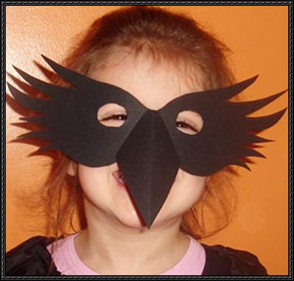 Halloween - Crow Mask Free Papercraft Template Download - http://www.papercraftsquare.com/halloween-crow-mask-free-papercraft-template-download.html