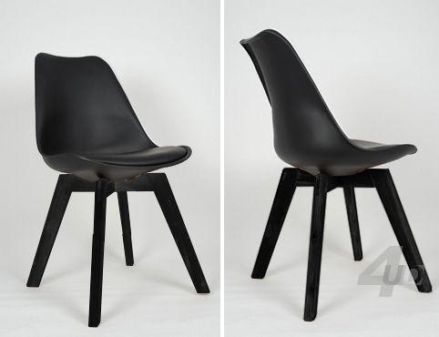 EETKAMERSTOEL WOODY BLACK - BLACK - 4udesigned - 79€