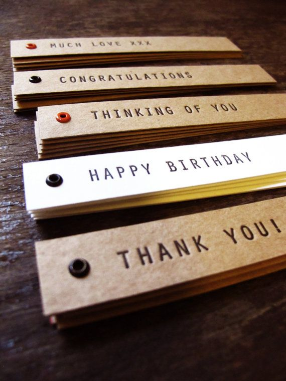 Love the simple style and design   Handmade letterpress tags  5 pack by thecollectorsroom on Etsy, $8.00