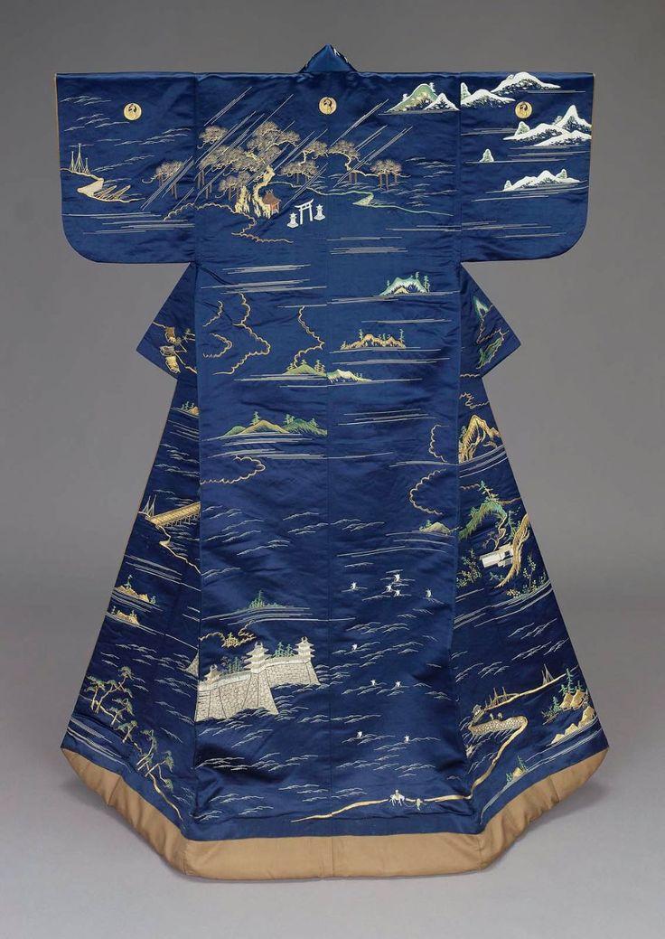 Uchikake kimono, Edo period (19th century), Japan