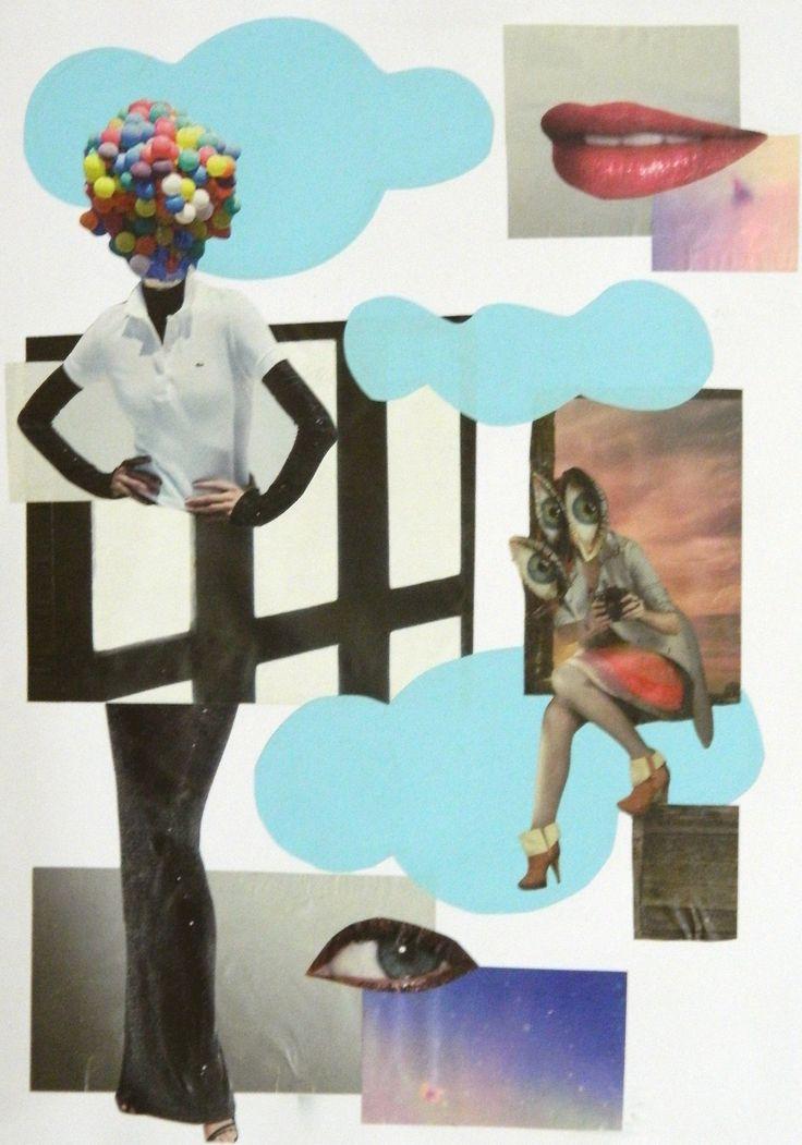 """Sem título"", 2014 Colagem sobre papel."