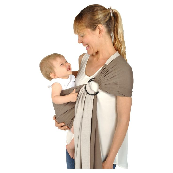 Balboa Baby Dr. Sears Reversible Jersey Sling - Mocha (Brown)/Tan