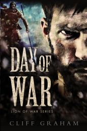 DAY OF WAR (1 LION OF WAR) by CLIFF GRAHAM. In ancient Israel, at the crossroads of the great trading routes, a man named Benaiah is searching for a fresh start in life. He has joined a band of soldiers led by a warlord named David. Available from Available from Faith4U Book and Giftshop, Secunda, SA