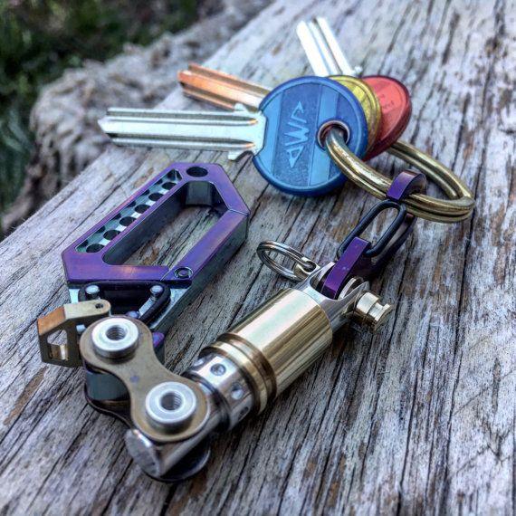 Porte-clés titane Swivel mousqueton N20 / par EdcApparatus sur Etsy
