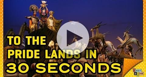 The cast of Broadway's The Lion King tells the entire story of the hit Disney musical in only 30 seconds.