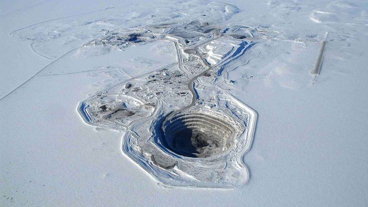 mine de diamant | La mine de diamants de Diavik, au Canada