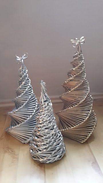 Weihnachtsbaum, Tannenbaum,Christmas Tree aus Zeitungsröllchen - Last Minute…