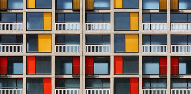 The facade, Park Hill, Sheffield