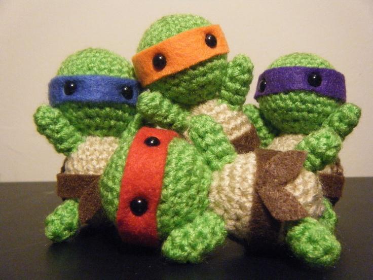 Amigurumi Geek Patterns : Best images about teenage mutant ninja turtles crochet