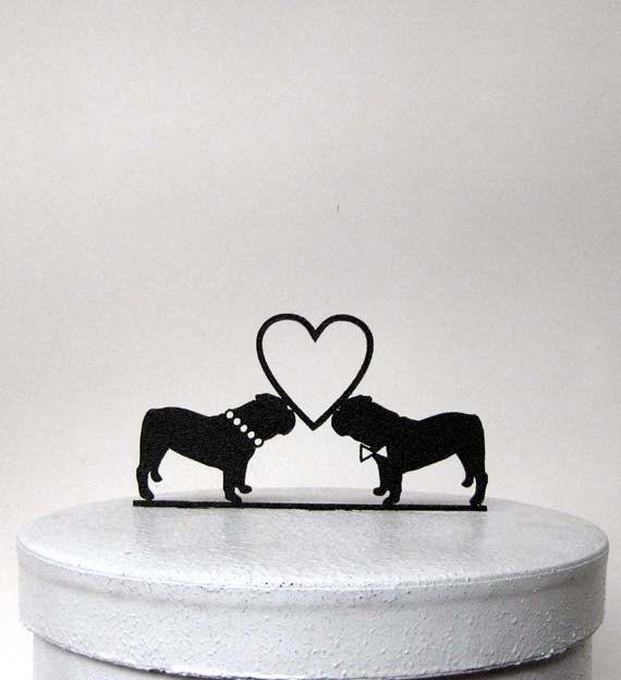 Wedding Cake Topper English Bulldogs By Plasticsmith