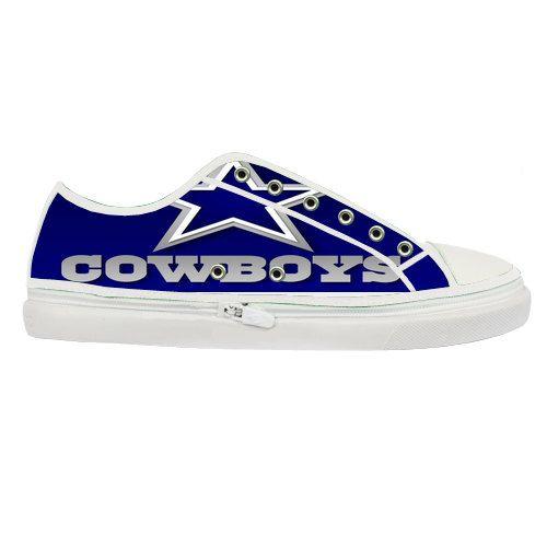 nfl dallas cowboys custom canvas shoes by