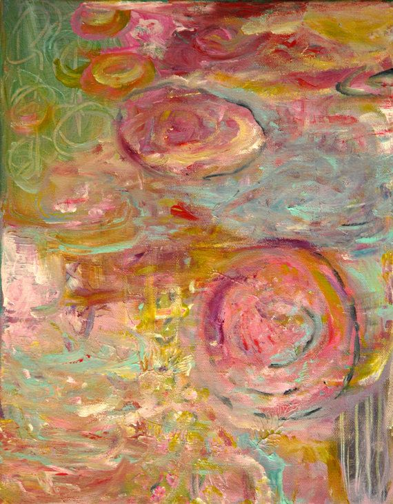 serenity...Original Abstract painting by Annie by annielockhart, $1200.00