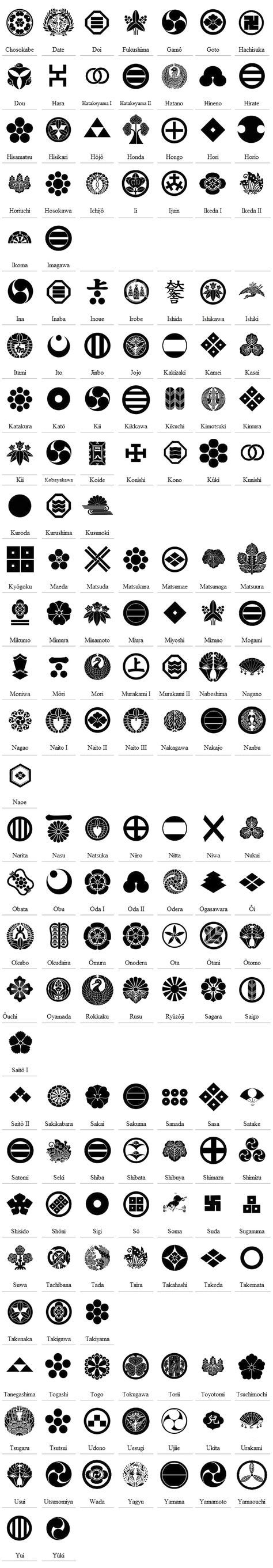 Samurai Crests great for graphic or embroidery patterns finally i found it :)