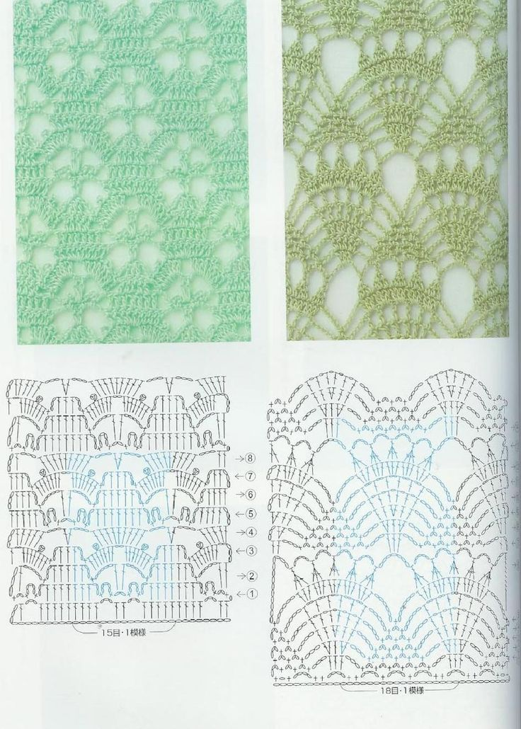 195 best Схемы images on Pinterest | Crochet motif, Crochet patterns ...