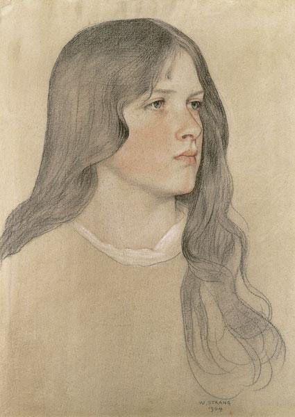 https://flic.kr/p/r9zjDM | Portrait of a girl (1904) | William Strang (13 February 1859—12 April 1921)