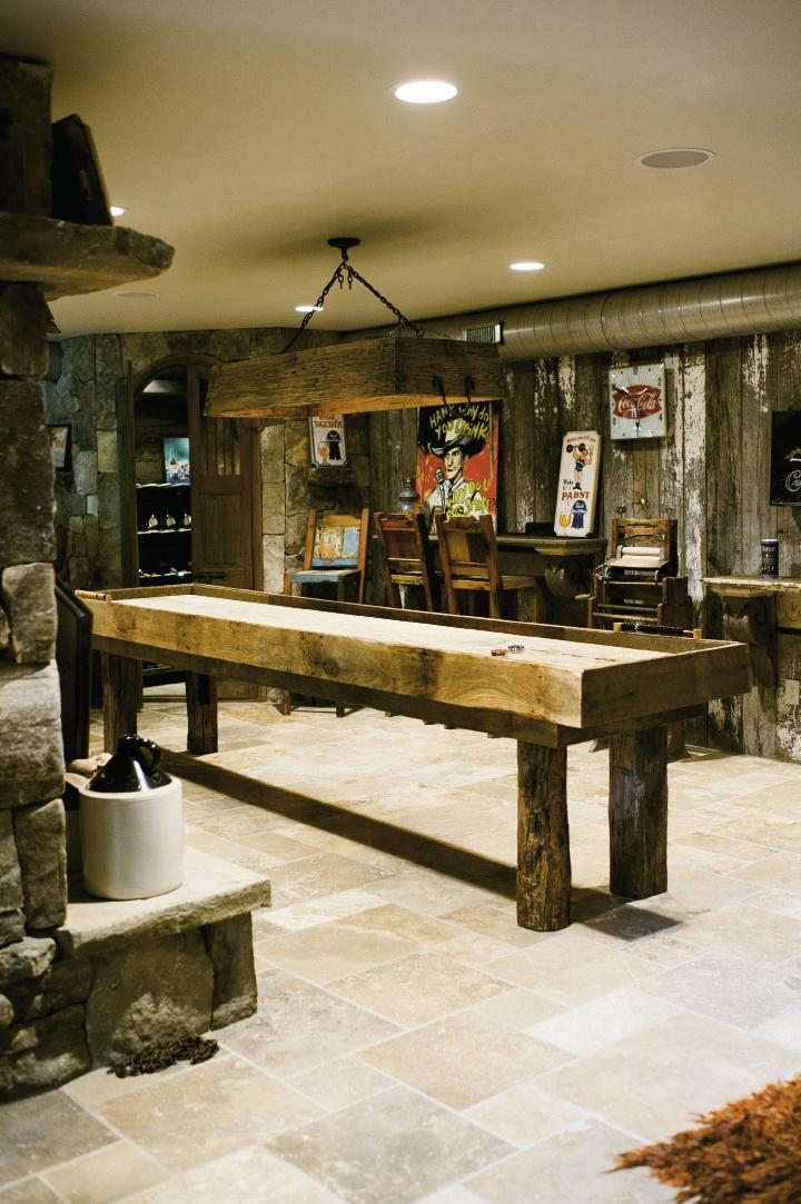 Downstairs, the den is a regular hangout for Debra's teenage boys, Austin and Jordan.