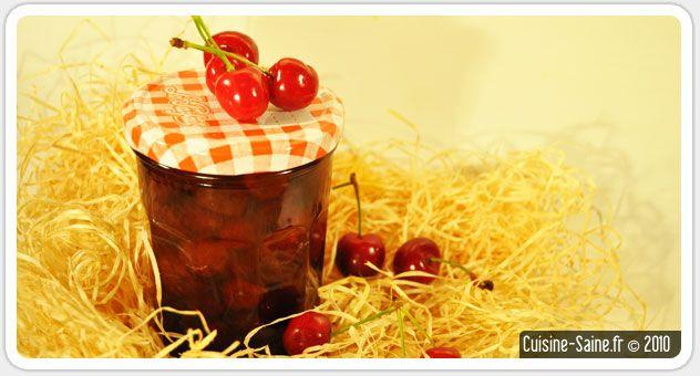 Recette bio cerise : confiture de cerises au coquelicot