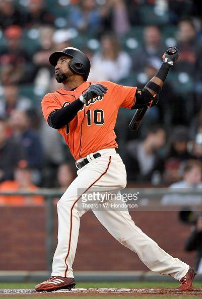 News Photo : Eduardo Nunez of the San Francisco Giants bats...