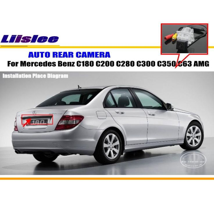 Car Camera For Mercedes Benz C180 C200 C280 C300 C350 C63 AMG / Rear View Camera / HD CCD RCA NTST PAL / License Plate Lamp OEM #Affiliate