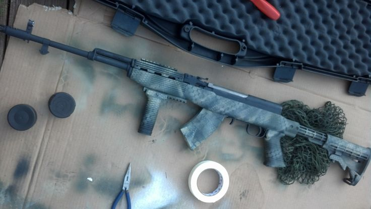 how to clean a rifle stock