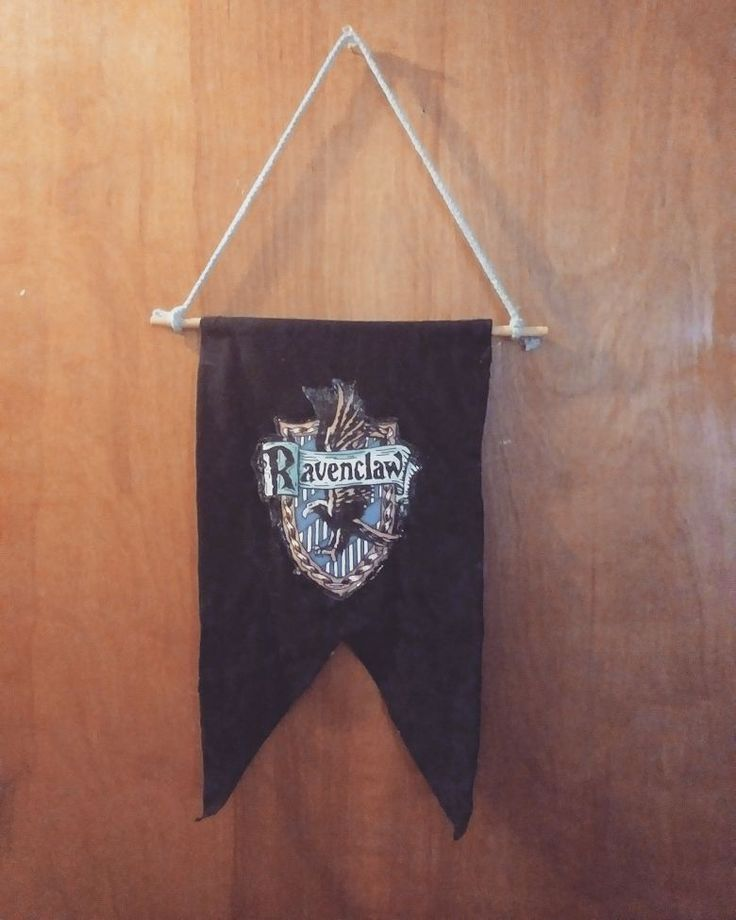 Mikayla has been a little #HarryPotter obsessed lately. After taking the official #Pottermore house-sorting quiz she made her Ravenclaw pennant painted her light-switch cover and handcrafted several wands.
